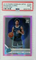 2019 Panini Optic Rated Rookie Hyper Pink Brandon Clarke RC #194, Graded PSA 9
