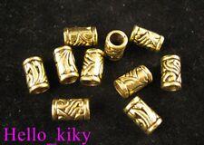 60Pcs  Antiqued gold plt ornate tube spacer beads A276
