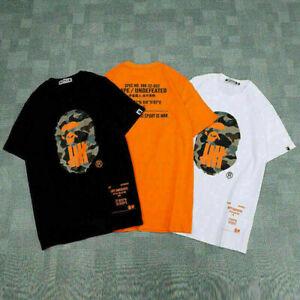 Men Bape A Bathing Ape Camo Casual Fashion Cotton Basic Tee T-shirt Short Sleeve