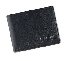 $75 KENNETH COLE MENS BLACK LEATHER BIFOLD 9CC ID CREDIT CARD PASSCASE WALLET
