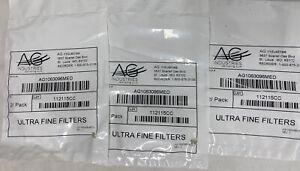 Lot of 3 pkgs CPAP Filters AG INDUSTRIES 2/pk Ultra Fine AG1063096MED 6 Total