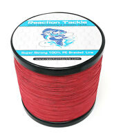 Reaction Tackle High Performance Braided Fishing Line / Braid - Red