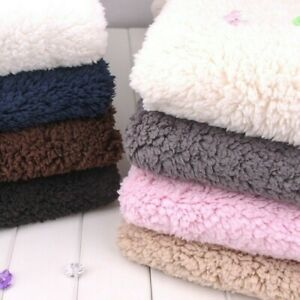 Faux Sherpa Fleece Fabric Thick Thermal Blanket Coat Jacket Lining Material