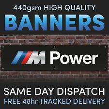 bmw mpower Printed PVC Banner ideal for garages, man cave or sheds