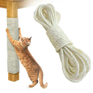 33FT Cat Scratching Sisal Rope Hemp Craft Twisted Twine Scratch Board Post Toys