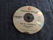 Werkstatthandbuch Mitsubishi Carisma Modelljahr 1996-2001 Reparaturanleitung