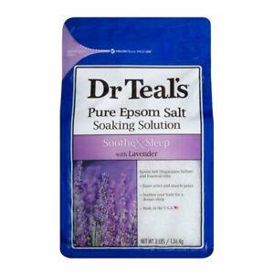 Dr Teals Pure Epson Bath Salts Soaking Solution Soothe & Sleep & LAVENDER 1.36kg