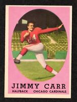 "1958 Topps #65 Jimmy Carr Chicago Cardinals Football ROOKIE Card  ""mrp""  EX/MT"