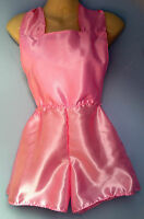 pink satin shorts romper onsie french maid cosplay sissy adult baby boxers 28-38