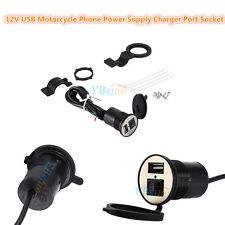 Motorcycle Mobile Phone GPS USB Power Supply Port Socket Charger 12V DC