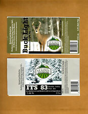 Set Of 6 Rare Micro Beer Labels Northern Maine Caribou Me !