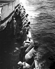 New 8x10 Korean War - Conflict Photo: U.S. Marines Aboard the USS CLYMER, 1950