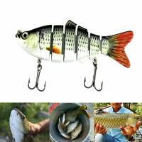 Multi-joint Fishing Lure Segment Bionic Plastic Bait Swimbait Hook 10cm New