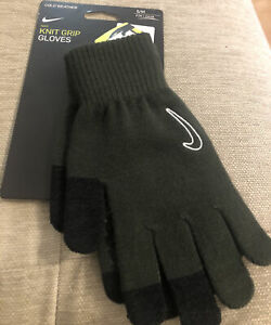 Nike Adults/Unisex Cold Weather Knit  Grip Green Knitted Gloves TOUCH SCREEN S/M