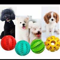 Durable Rubber Ball Chew Pet Dog Puppy Teething Dental Healthy Treat Perfect HQY