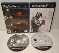 Knights Of Temple 1 & 2 - Lot 2 jeux PS2 - PAL français - Complet -Très bon état