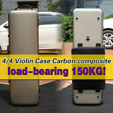 Yinfente Carbon Fiber Violin Case 4/4 Golden color Code lock Square Case