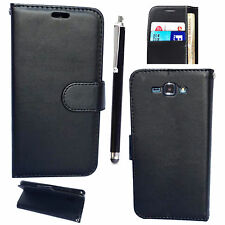Samsung Galaxy J5 (J500) - Mobile Phone PU Leather Wallet Book Case Cover BLACK