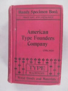 American Type Founders CATALOG - 1897 ~~ thick type specimen book