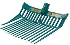 Full Size Blue Ribbon Stall Muck Fork Sawdust Straw PitchFork Horse Trailer TEAL