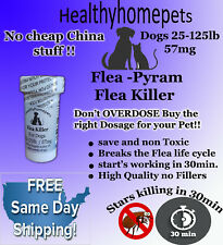 50 Capsules Instant Flea Killer Control for Dogs 25-125 lbs. 57MG QUICK RESULTS