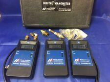 LOT/3 Meriam Instrument DIGITAL MANOMETER D0100P, D0030P & D0020IW w/case + MORE