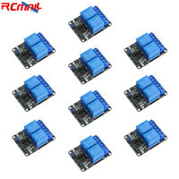 10pcs 2 Channel 5V Relay Module Board with Optocoupler JQC-3FF-S-Z for Arduino