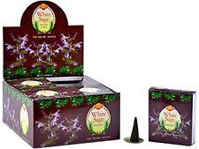 120 Cones (12 Boxes) Sac White Sage Incense Cones!