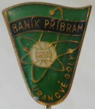 Banik de Pribram ahora Dukla Praha Vintage 1960s Club Crest tipo insignia pin de palo