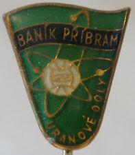 BANIK PRIBRAM now DUKLA PRAHA Vintage 1960s Club crest type badge Stick pin