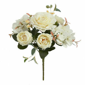 Vintage Artificial Fake Peony Silk Flowers Retro Bouquet Home Decor lt Wedding
