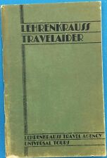 LEHRENKRAUSS TRAVEL AGENCY Canada U.S. Alaska ship/train (1931) illustrated SC