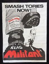 More details for militant original 1980's poster