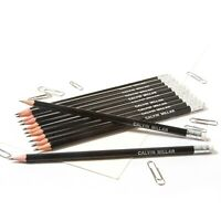 12 Black HB Pencils Personalised with Name High Quality Printed/Embossed Pencils