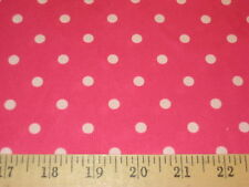 """Hot Pink With White Polka Dot 100% Polyester Interlock Fabric 58"""" W BTY"""