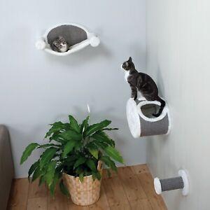 Wall Mounted Cat Lounging Set, space-saving, Gray