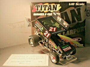 2007 Daryn Pittman Titan Garages 1/18 R&R Diecast Sprint Car Autographed