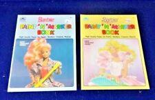 Vintage 2 BARBIE Paint n Marker Books Rockers + Princess Coloring 1990 UNUSED