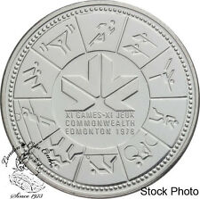 Canada 1978 $1 11th Commonwealth Games Silver Dollar Coin - in Capsule Only