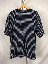 Vintage '90s Nautica Blue Ringer T Shirt Xl Streetwear Free Us Shipping (Ap)