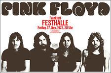 Pink Floyd 1972 Frankfurt Deutschland Konzert Poster