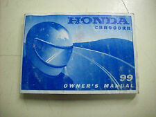 1999 HONDA CBR900RR OWNERS MANUAL