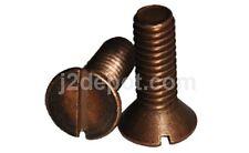 "Silicon Bronze Machine Screw Slot FH #10-24 x 1"" 100pcs"