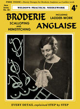 Weldon's 4D #53 .1931 Broderie Anglaise Instructions for Ladderwork & Scalloping