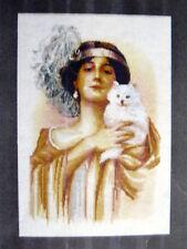 La Dame au Chat: The Mistress - Woman & Cat  - Filanthrope Design Chart - France