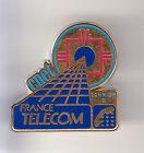 RARE PINS PIN'S .. PTT LA POSTE FRANCE TELECOM CNET ROUGE 2 BLEU LANNION 22 ~BW
