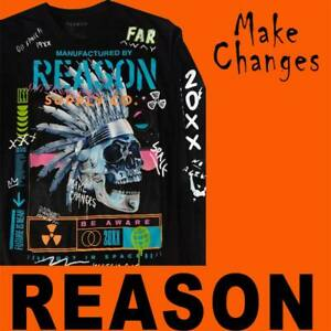 """MEN'S LIMITED EDITION REASON """"MAKE CHANGES"""" LS SHIRT MADE NYC AUTHENTIC LARGE"""