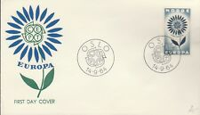 10a Norway FDC  First Day Cover Europa CEPT  1964 better cachet BLUE flower