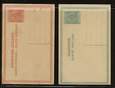 Albania  2  postal  cards   unused       MS0204