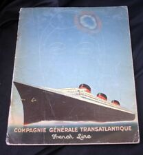 CGT FRENCH LINE SS NORMANDIE Paul Iribe Brochure